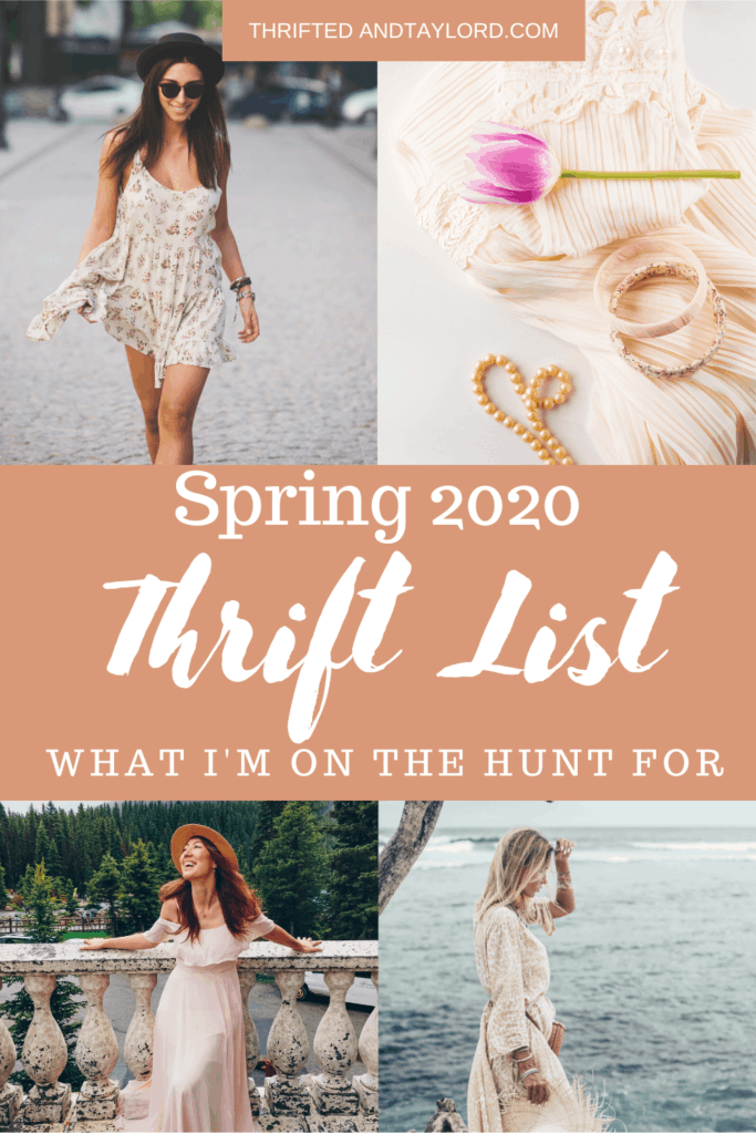 Spring is just around the corner, have you started getting your wardrobe ready to make the switch into some warmer weather? I'll be thrifting spring trends on my next thrift trip, check out what exactly I will be on the hunt for!