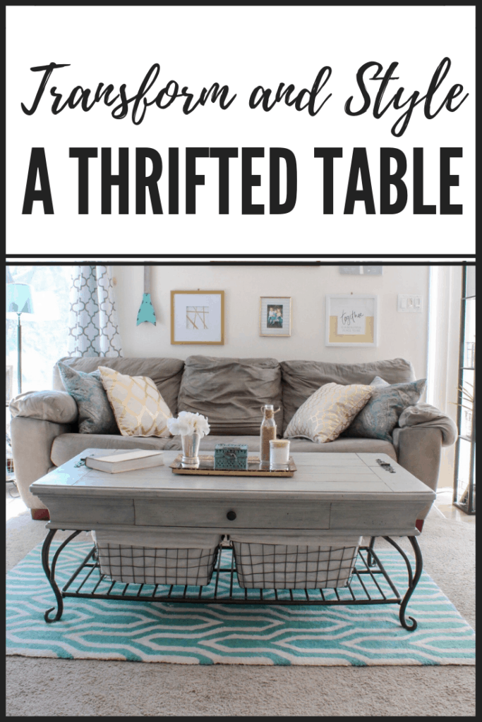 Transform and Style a Thrifted Coffee Table | #thrifted #transformation #farmhouse #farmhousestyle