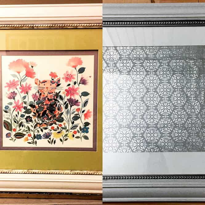 Transforming a Thrifted Piece of Artwork