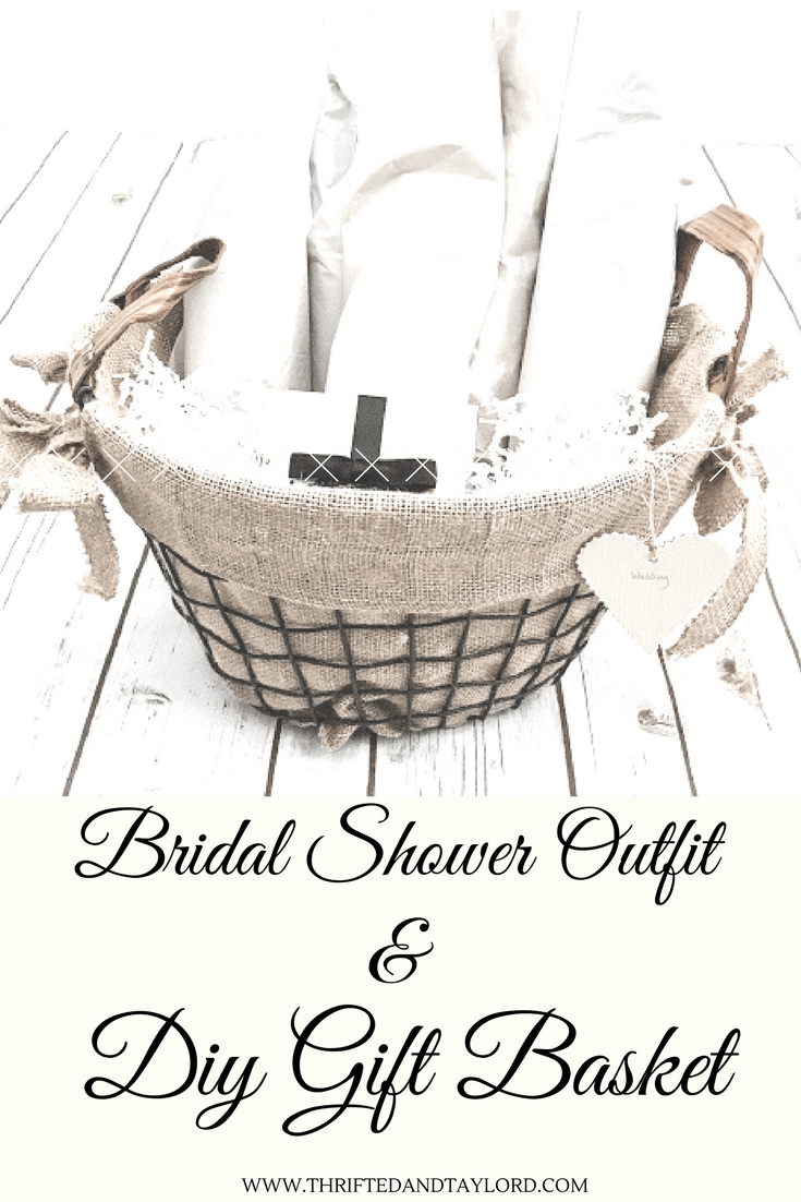 Bridal Shower Outfit and DIY gift basket
