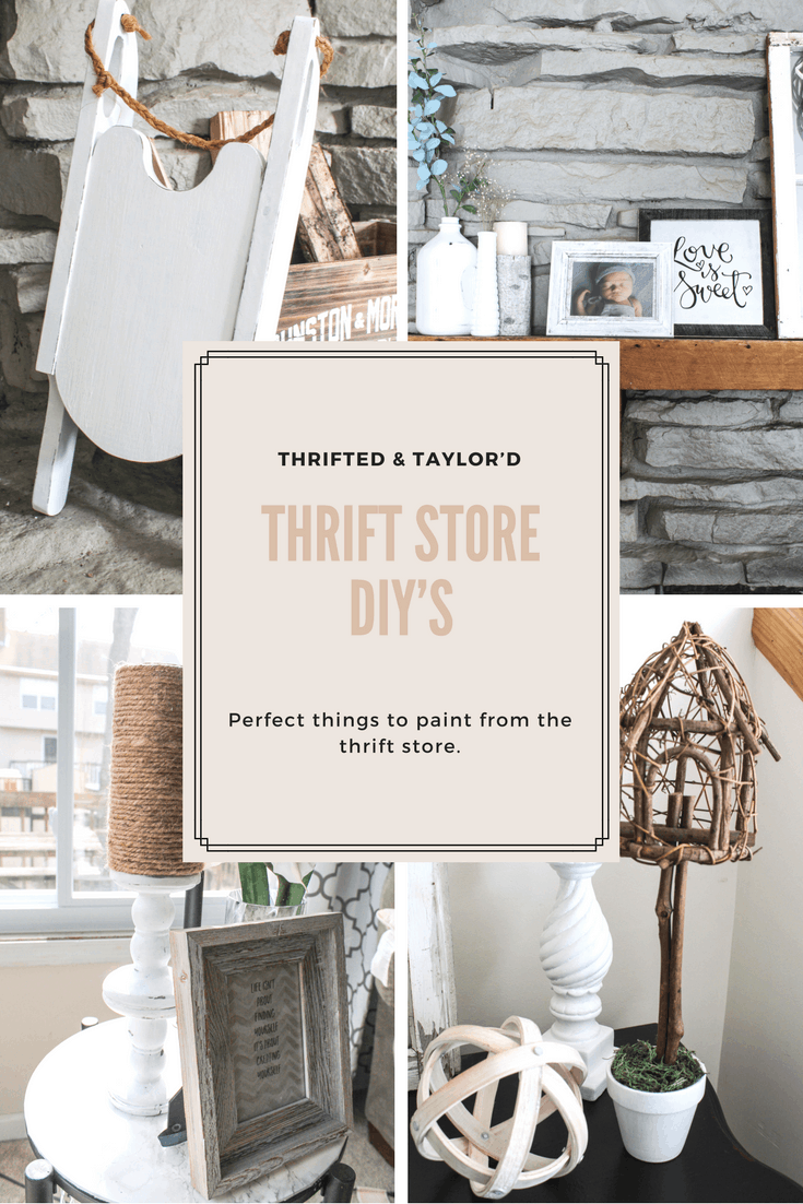 Thrift Store DIY | Perfect Things to Paint