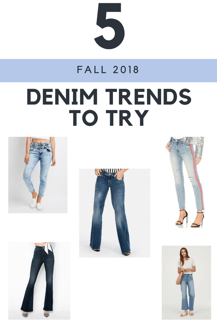 5 Fall 2018 Denim Trends To Try