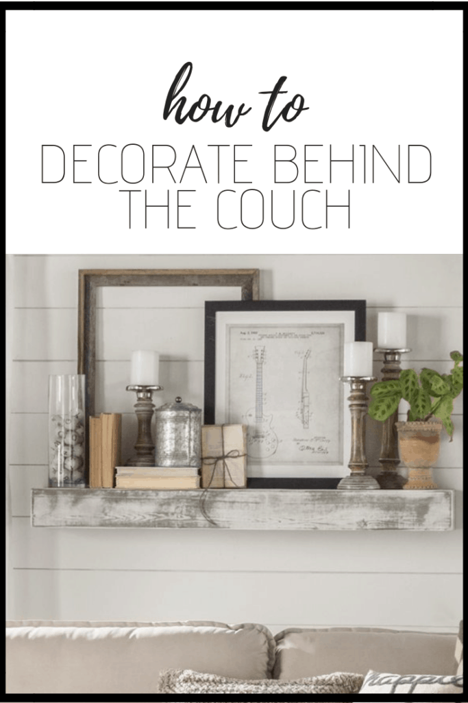 How to Decorate Behind the Couch   Thrifted & Taylor'd