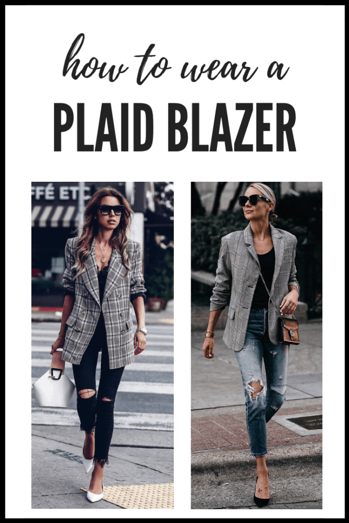 How to Wear A Plaid Blazer   Thrifted & Taylor'd