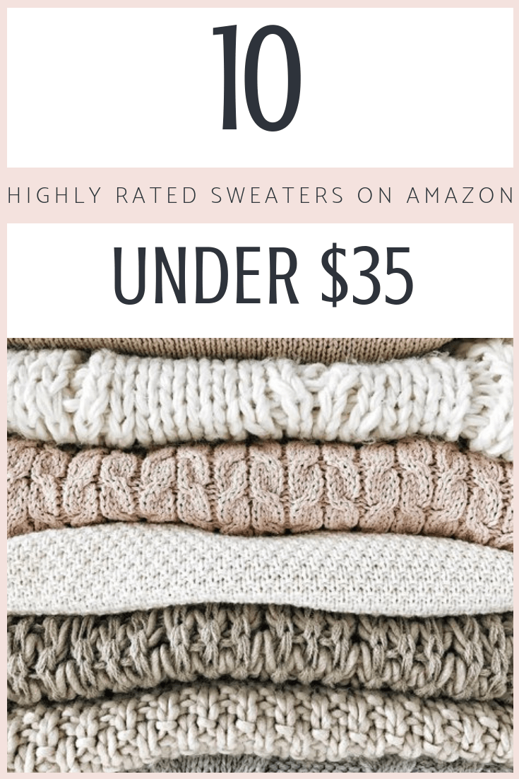 10 Highly Rated Sweaters on Amazon Under $35