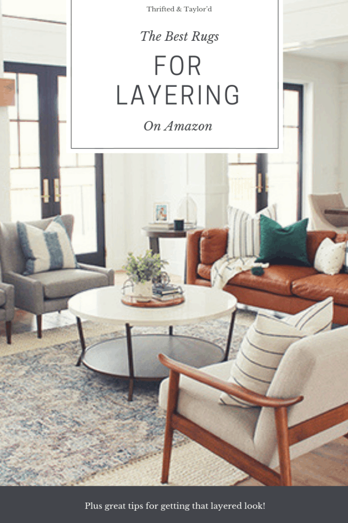The Best Rugs For Layering On Amazon | #rugs #rugsideas #ruglayering #homedecor #homedecorating #decorating