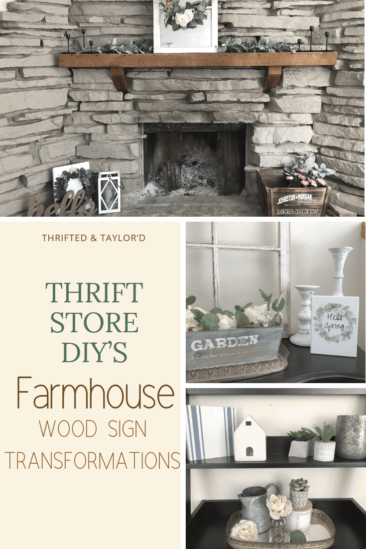 Thrift Store DIY'S | Farmhouse Wood Sign Transformations