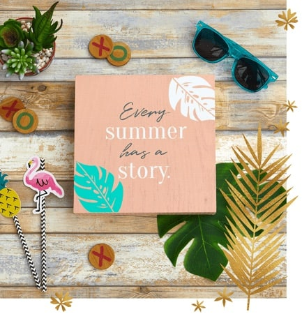 This adorable summer sign is one of the items you will receive in your summer subscription box.