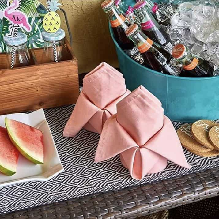 These coral napkins are one of the items you will receive in your summer subscription box.