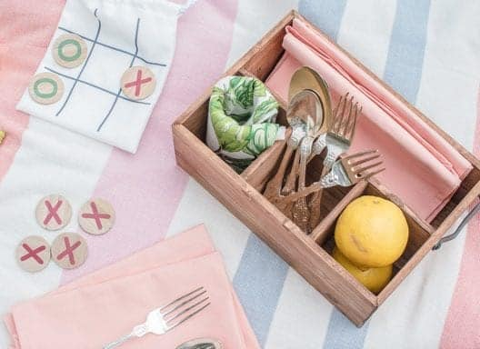 This wood caddy is one of the items you will receive in your summer subscription box.