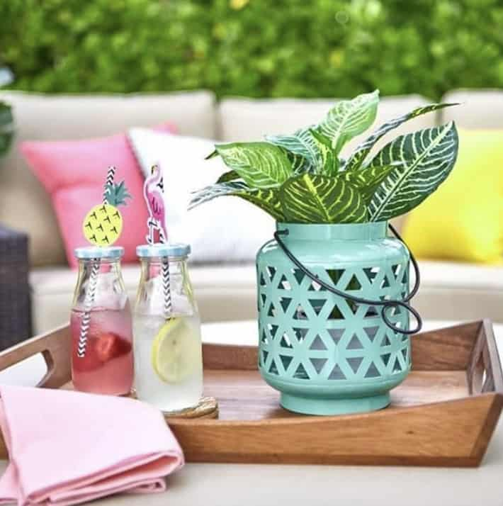 This cute teal lantern is one of the items you will receive in your summer subscription box.