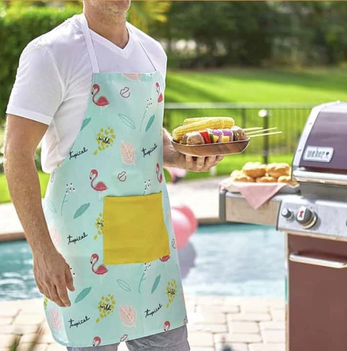 This fun and bright apron is one of the items you will receive in your summer subscription box.