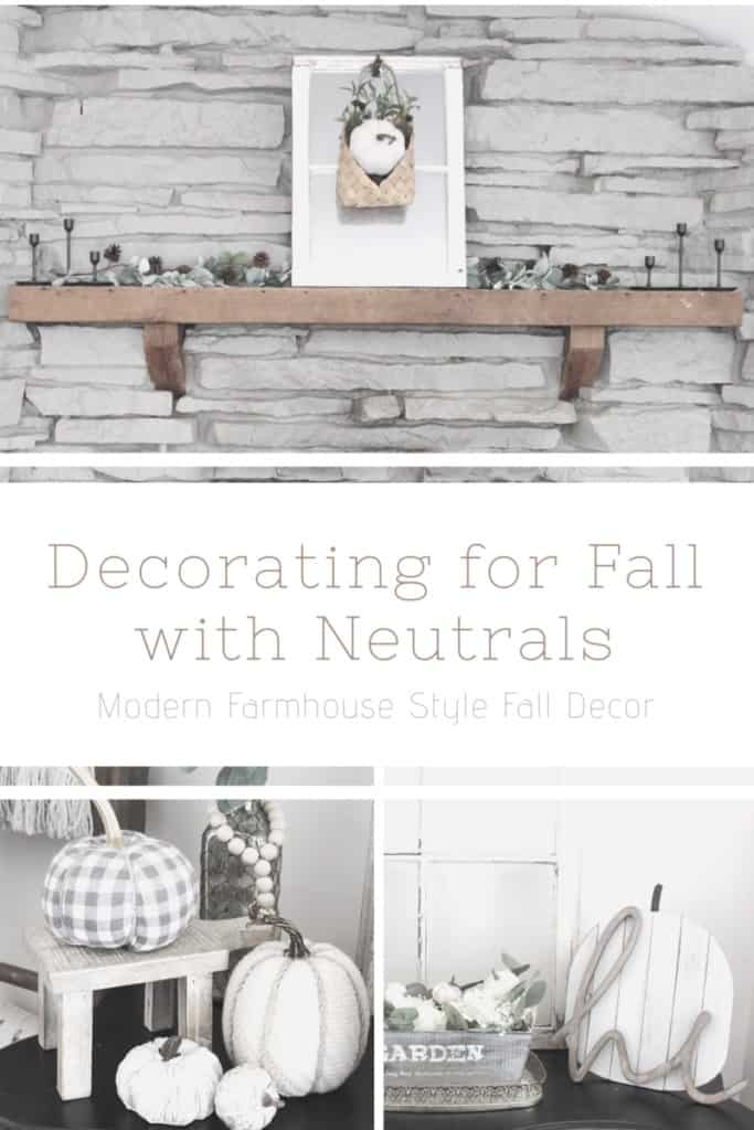 Decorating for fall with neutrals