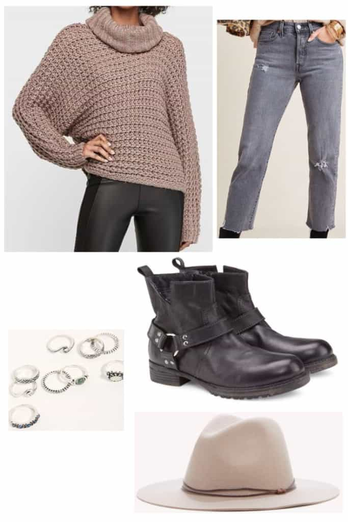 In need of some outfits to wear for Thanksgiving? Check out these 5 options which are trendy and won't break the bank. This Thanksgiving outfit is perfect if you want something more casual and cozy.