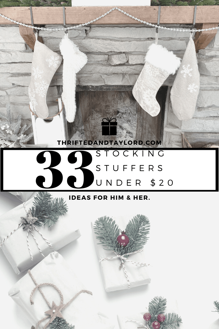 33 Stocking Stuffers Under $20 | For Him & Her
