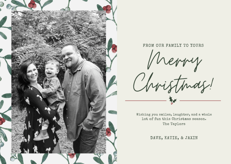 A Christmas Message to you, may your days be merry & bright.