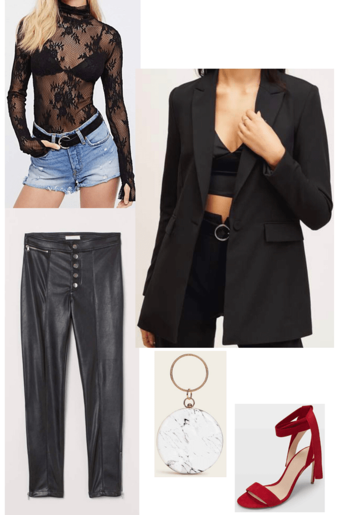 If you are on the hunt for your V Day outfits then you must check out these looks I've put together. These Valentine's day outfit ideas are full of items you can totally find while thrifting too! This one is the perfect mix of edgy and sexy. Check out the rest to find the inspiration you need for your own look!