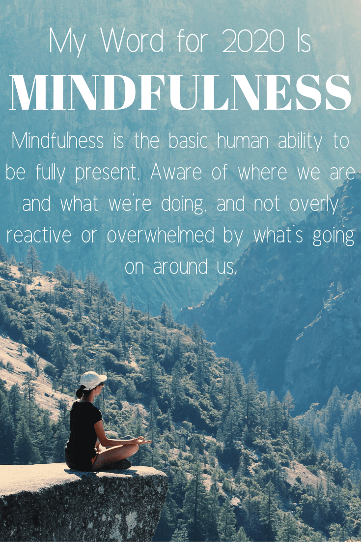 With a new year comes a fresh start. A chance to make new goals and take sight of who you want to be this year and moving forward. Mindfulness is my word for this new year. It is who I hope to be and how I hope to achieve the goals I have set for myself.