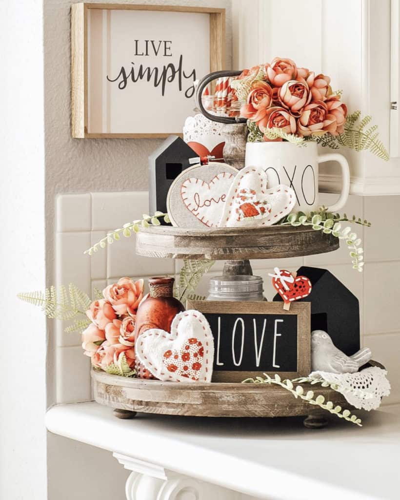 Do you decorate for every holiday or just the big ones? If you want just a little something to add to your decor for those smaller holidays check out this post on how to decorate for Valentine's Day to get some ideas how you can incorporate a few things here and there throughout your home to get in the mood for V-Day.