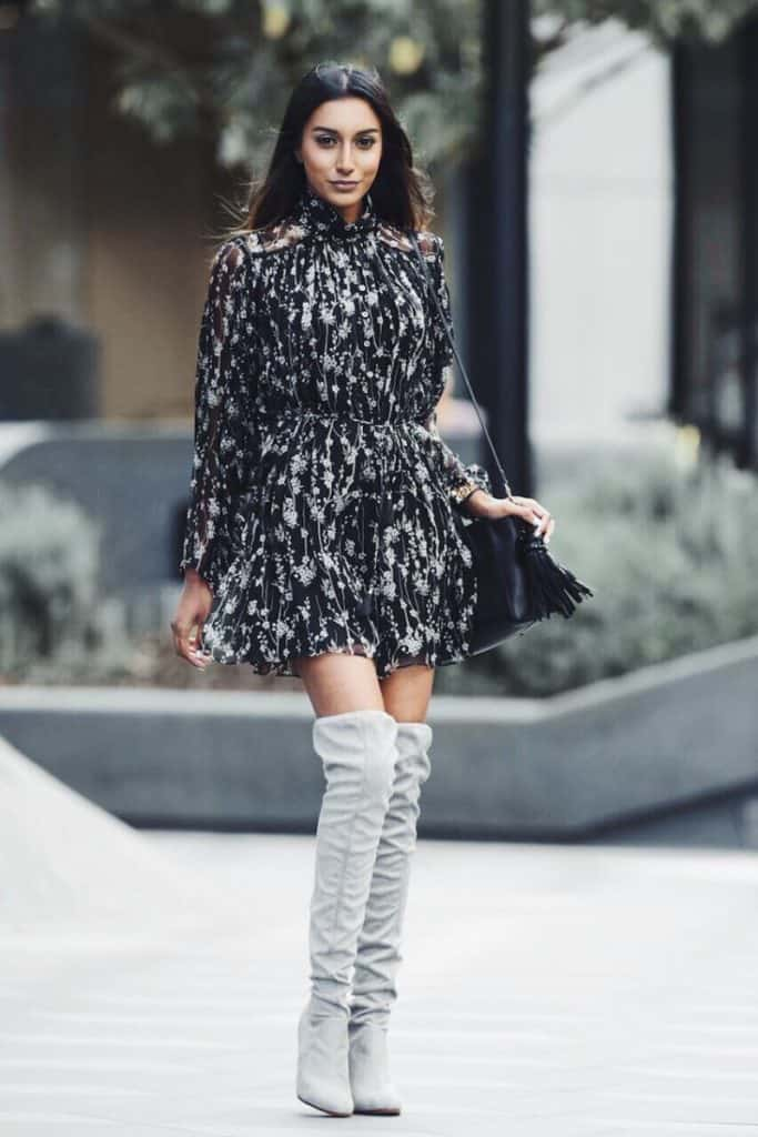 Over the knee boots are a great way to make that winter to spring wardrobe transition. You can break out your spring dresses and skirts and still have something to cover most of your legs for warmth. Check out 6 other ways to take your wardrobe from winter to spring!