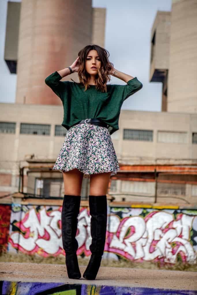 Over the knee boots are a great way to make that winter to spring wardrobe transition. You can break out your spring dresses and skirts and still have something to cover most of your legs for wa Check out 6 other ways to take your wardrobe from winter to spring!rmth.