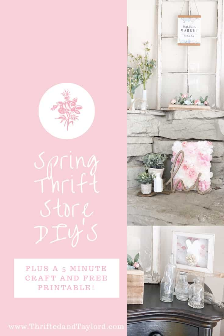 Spring Thrift Store DIY's | Plus An Easy 5 Minute Craft