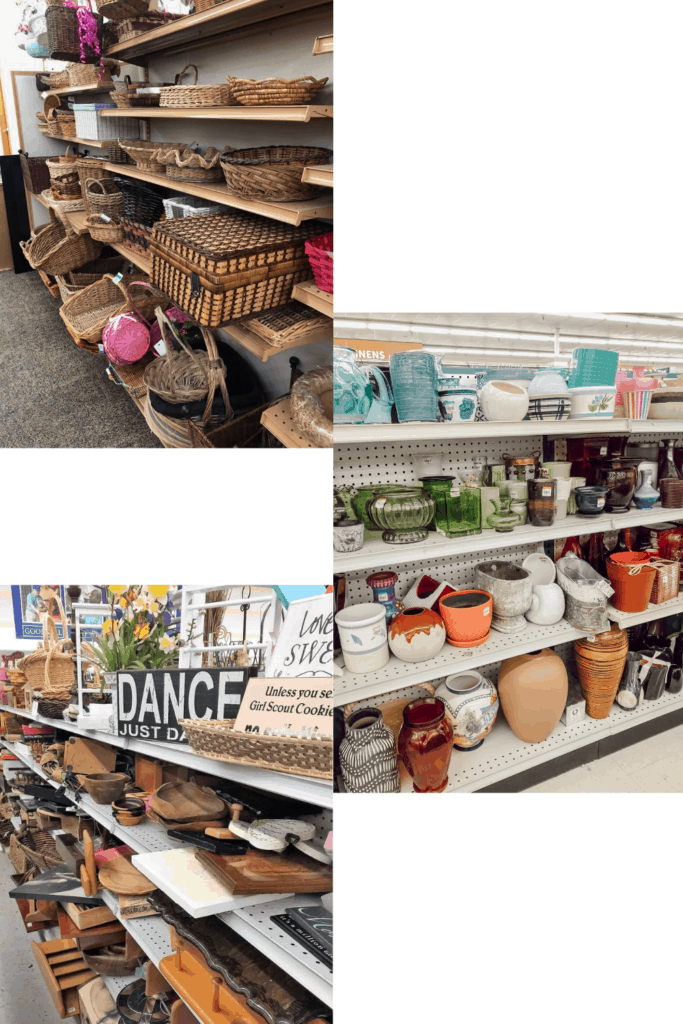 Checking every aisle in the home decor section to find all kinds of hidden gems is one of the many thrifting tips and tricks I have listed for you to be able to shop like the pros! Come check out the rest and make your thrifting trips awesome every time.