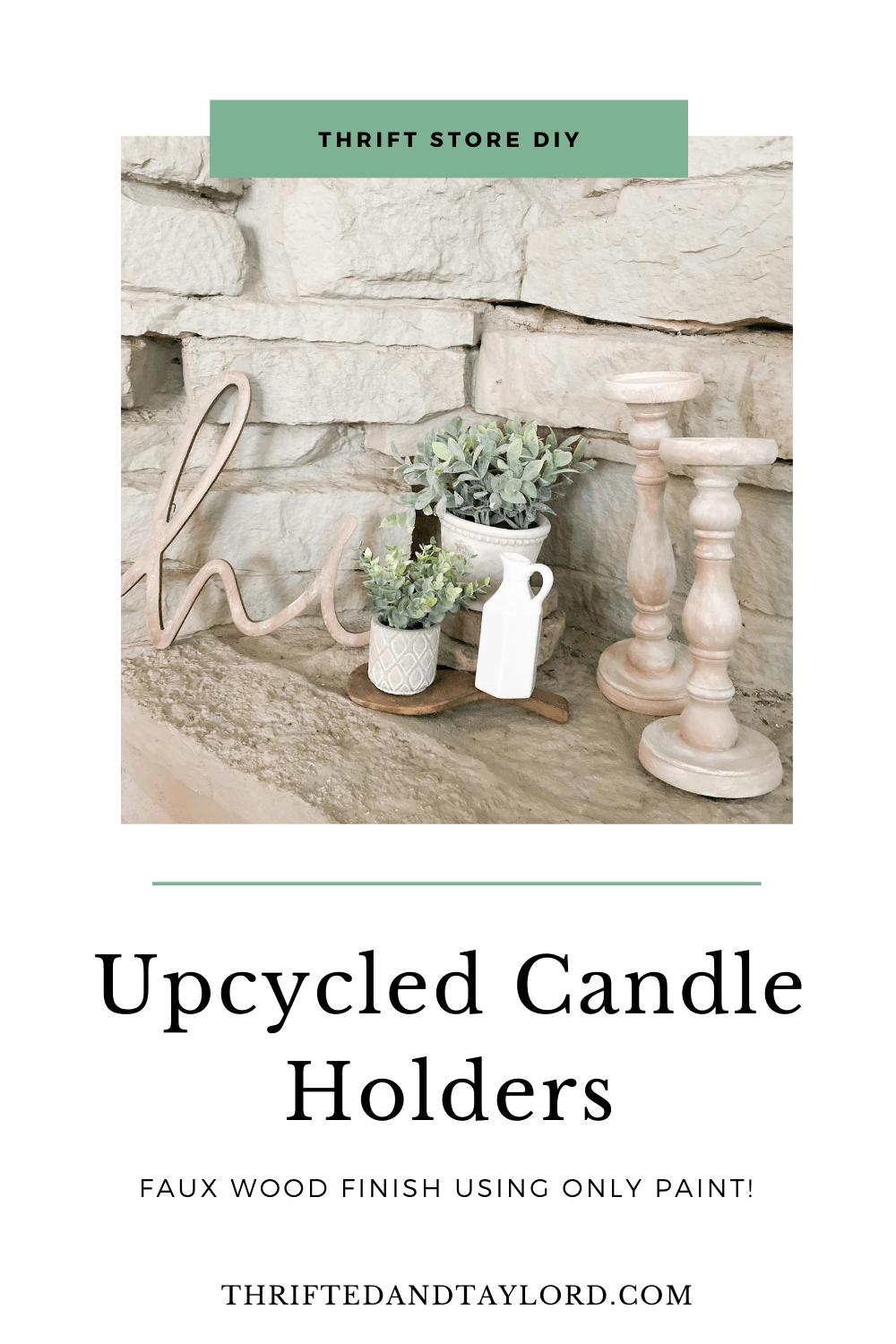 Upcycled Candle Holders | Thrift Store DIY
