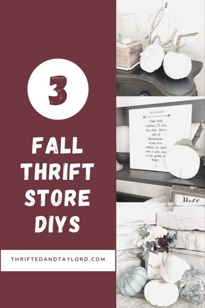 Have you started decorating for fall? I have a few quick and easy fall thrift store DIYS that you could totally do too using thrifted items or even items from the dollar store!