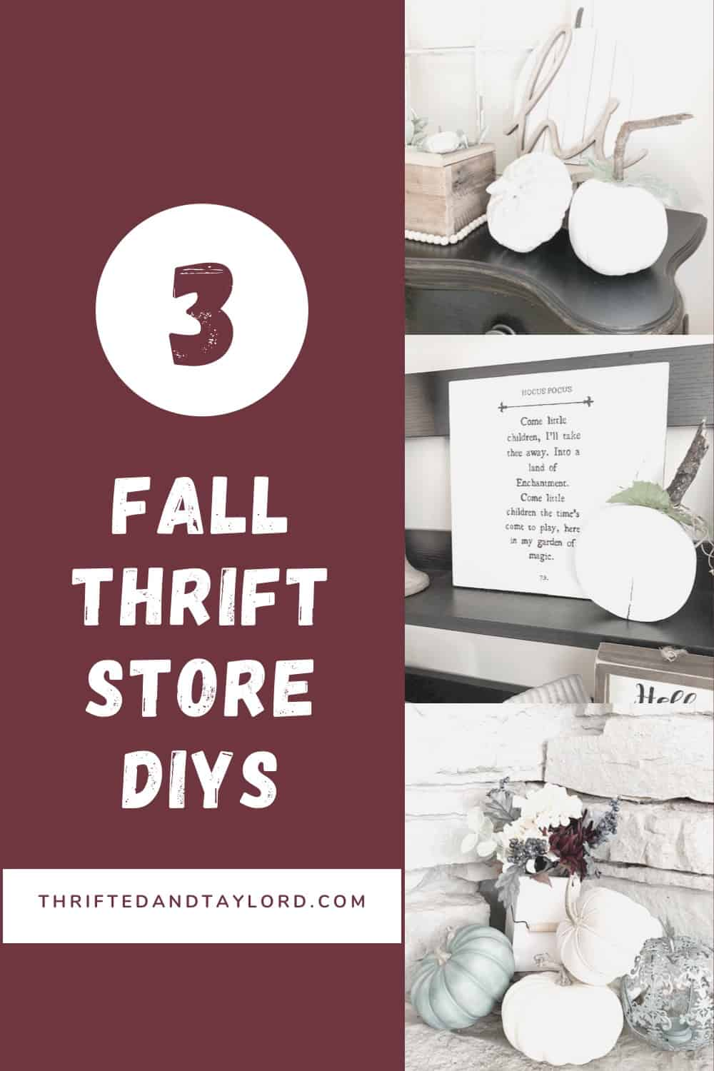 Fall Thrift Store DIYS | Quick and Easy Changes