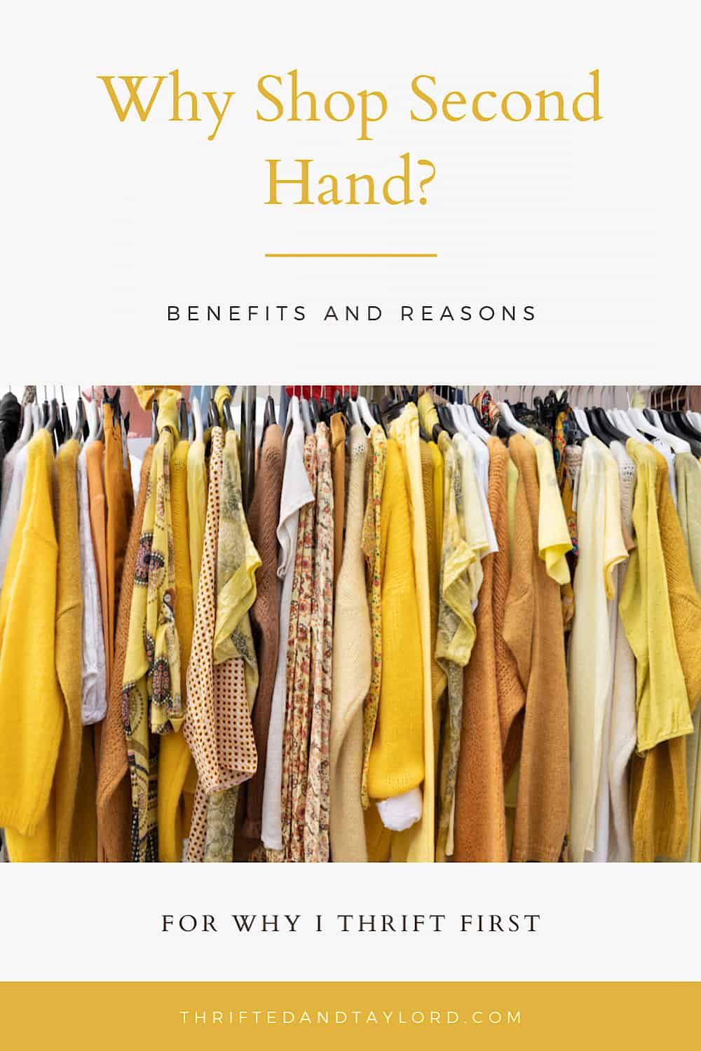 Benefits of Shopping Second Hand | Why I Thrift First, Buy New Second