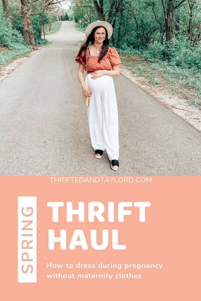 How to Dress During Pregnancy Without Maternity Clothes | Spring Thrift Haul